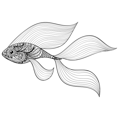 Free Printable Goldfish Coloring Page