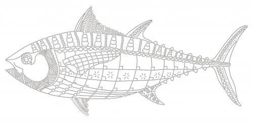 Tuna fish coloring page for Tuna fish coloring page