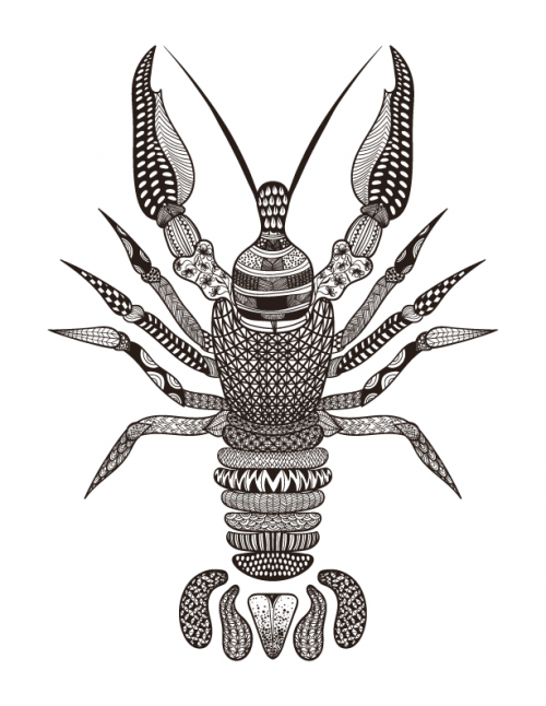 get it now - Lobster Coloring Page