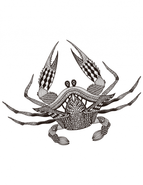 King Crab Coloring Page
