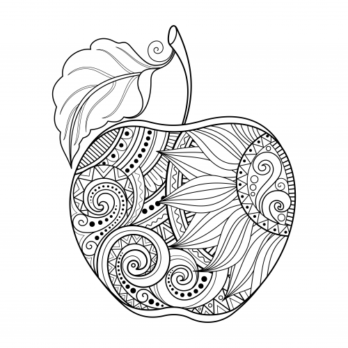 Apple coloring page for Apple coloring pages