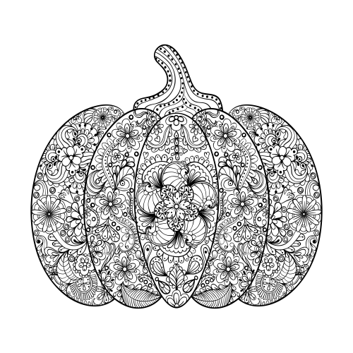 Pumpkin coloring page for Pumpkin coloring pages for adults