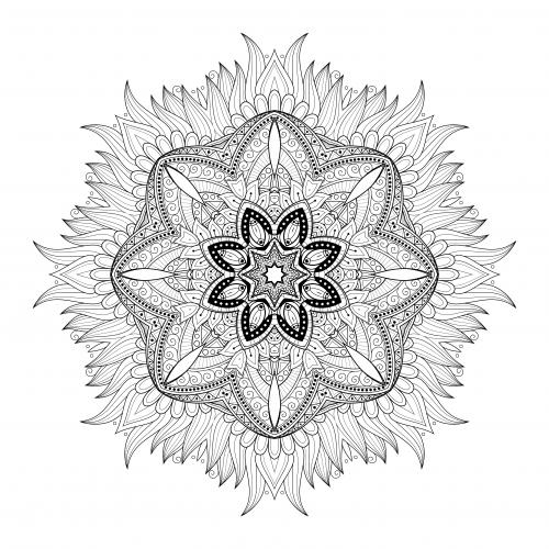 Nature Mandala Coloring Page - KidsPressMagazine.com