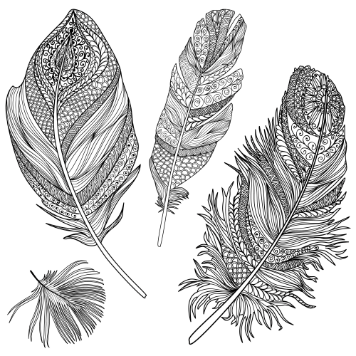 Feather Coloring Page KidsPressMagazinecom
