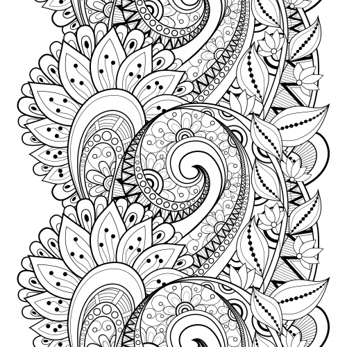 Flower doodle coloring page for Doodle coloring pages