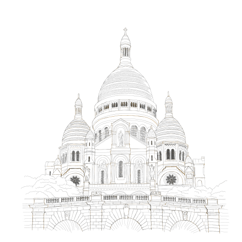montmartre paris coloring page