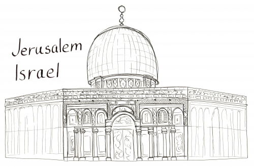 city of jerusalem coloring pages - photo#13