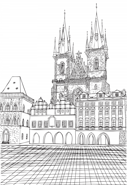 around town coloring pages - photo#30