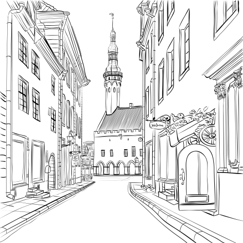 around town coloring pages - photo#34