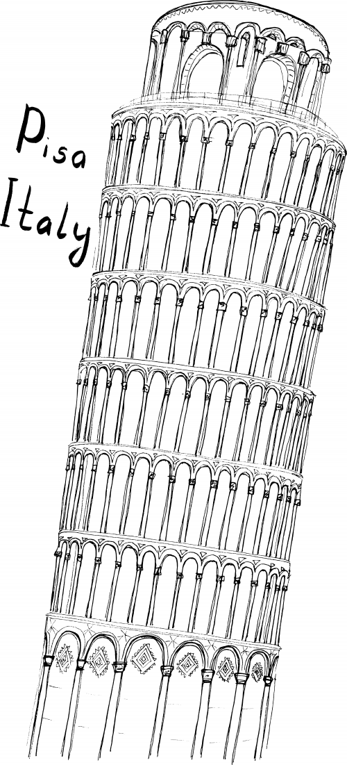 Pisa Coloring Page