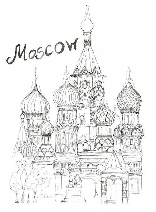 Moscow Coloring Page KidsPressMagazine