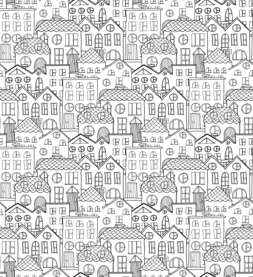 Old City Coloring Page