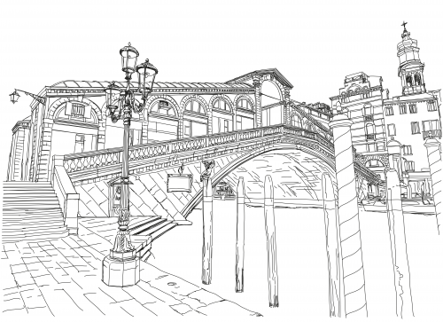 bridge coloring pages for kids - photo#20