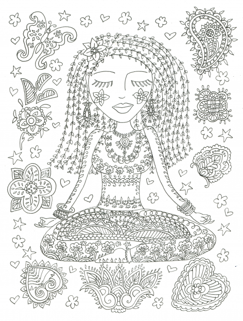 Download And Color This Amazing Picture To Find Your Peace Happiness Also You Can Print These Pages Out Make Easy Coloring Sheets Or Staple Several