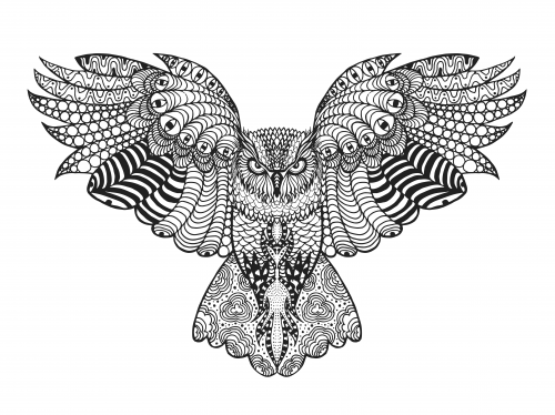 Tribal eagle coloring page for Tribal coloring pages