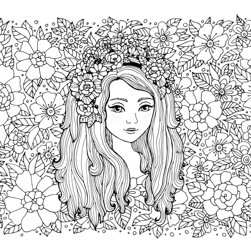flower girl coloring page kidspressmagazinecom - Flower Girl Coloring Book