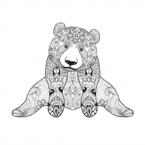 cute panda coloring page. Black Bedroom Furniture Sets. Home Design Ideas