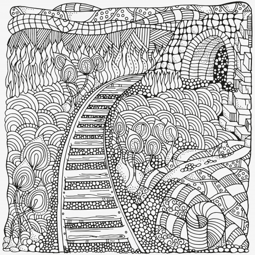 Fantasy coloring pages. Coloring pages. coloring book for adults ... | 500x500
