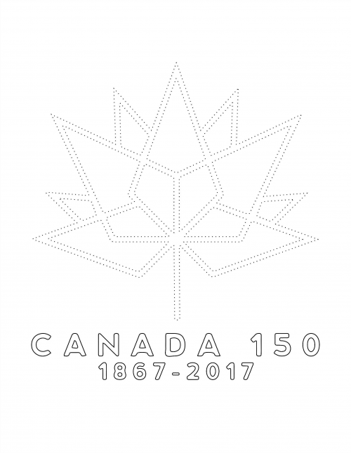 Celebrate Canada With New Logo Template And Coloring Page For Diy