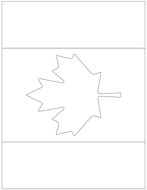 - Downloadable Canada Maple Leaf Flag Template And Coloring Page -  KidsPressMagazine.com