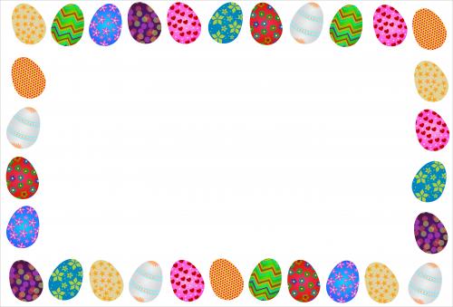 Free Easter Egg Frame Graphic
