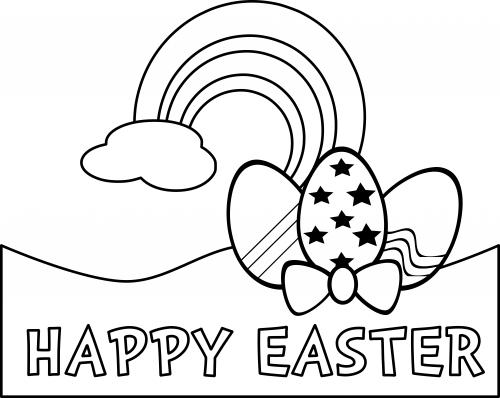 Happy Easter Coloring Page - KidsPressMagazine.com