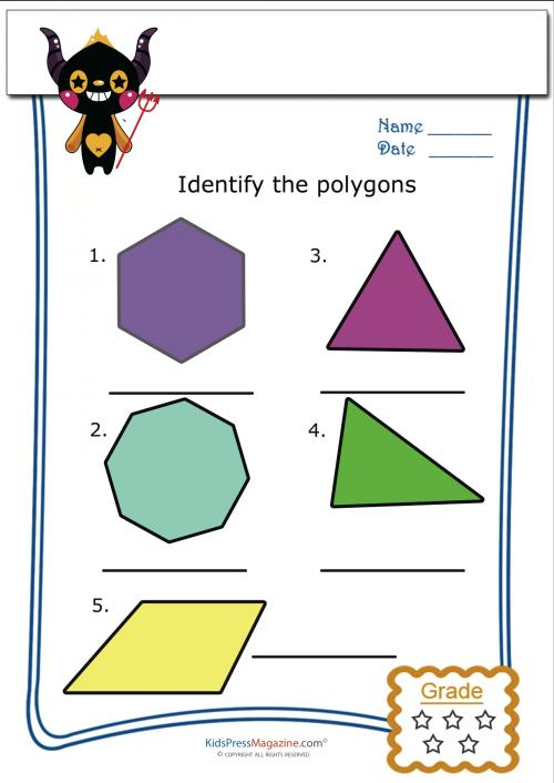 Printable Polygon Worksheets Part One Kidspressmagazine Com