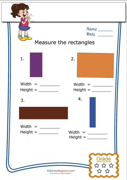 measure the rectangles worksheets part one. Black Bedroom Furniture Sets. Home Design Ideas