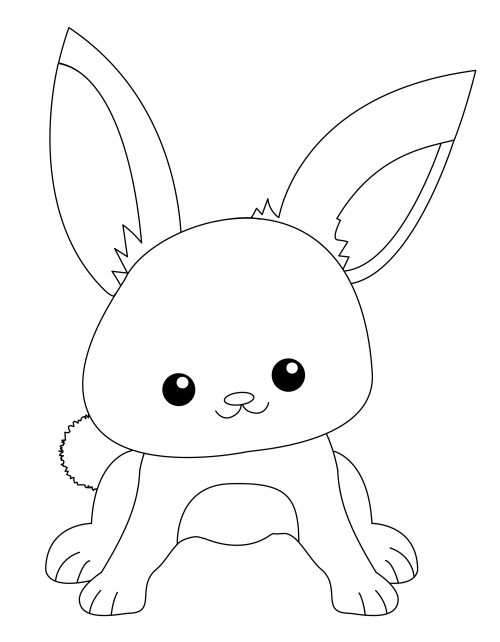 cute coloring pages of bunnies - photo#18