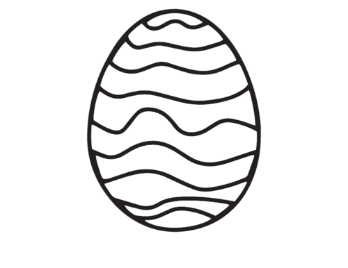 graphic regarding Easter Egg Printable known as Large Easter Egg Printable -