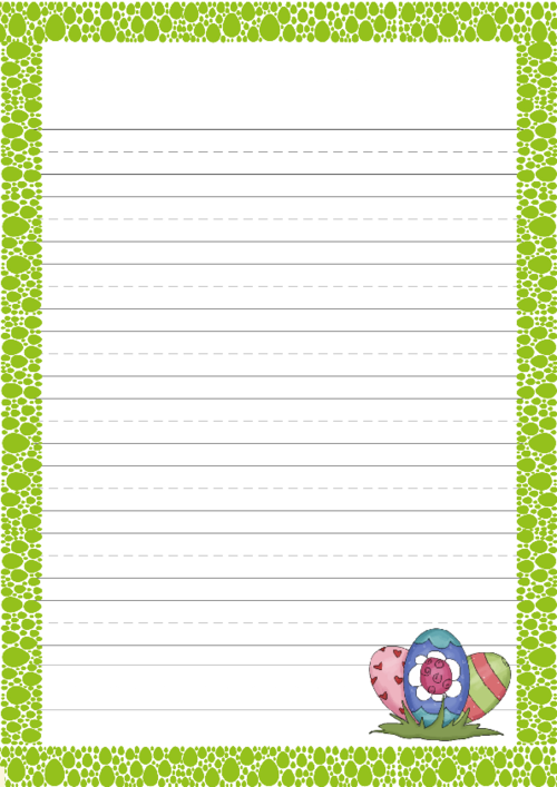 Free Easter Worksheet With Border