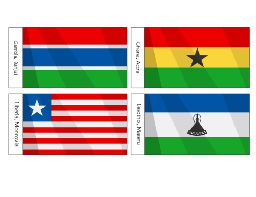 African Flags Printables For Kids