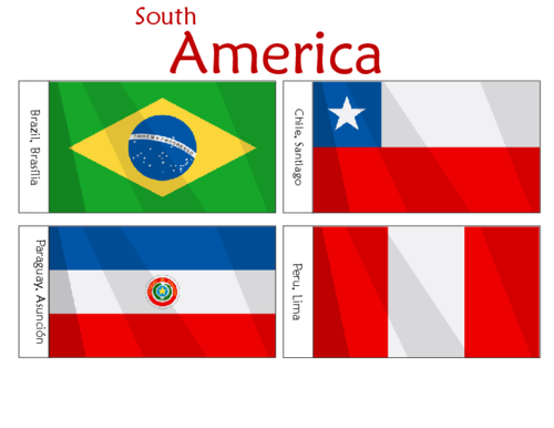 South American Flags Printables For Kids Part 1
