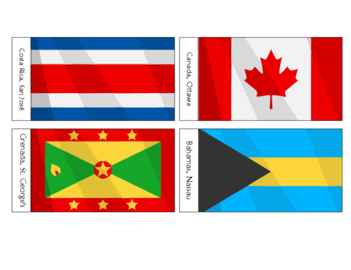 North American Flags Printables