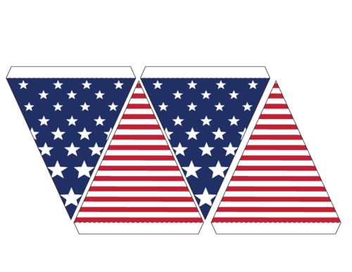 picture relating to Printable Usa Flag called United states of america Bunting Flags - Aspect 3 -