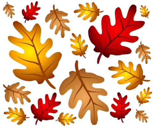 autumn leaf template free printables - autumn oakleaves poster