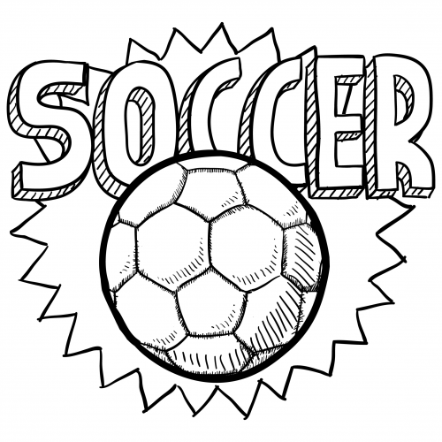 Soccer ball coloring page for kids for Soccer coloring pages to print