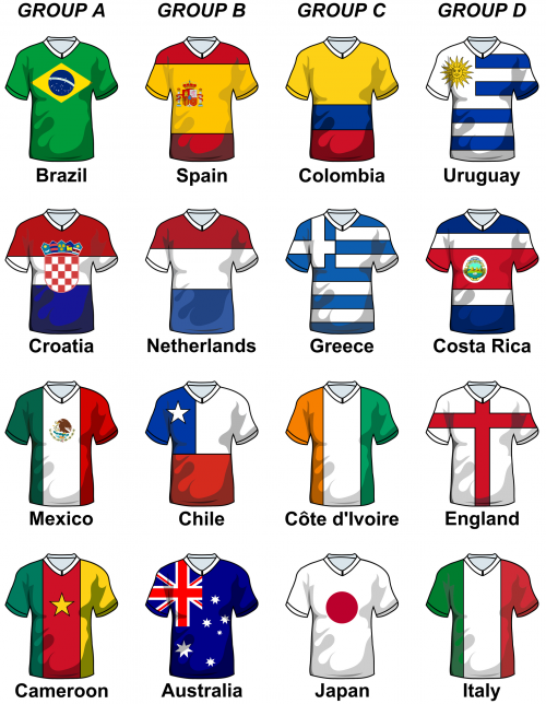 World Soccer Cup Groups Illustration