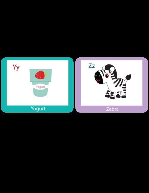 Alphabet Flash Cards Y through Z - KidsPressMagazine.com