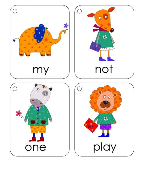 First 100 Words Flashcards #2 - KidsPressMagazine.com