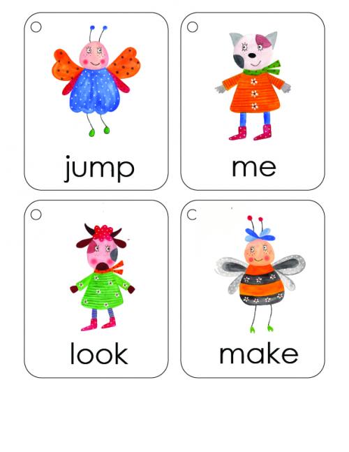 First 100 Words Flashcards #1 - KidsPressMagazine.com