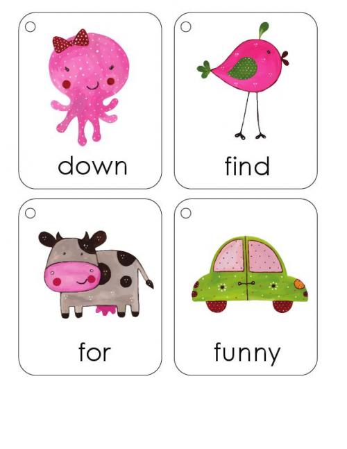 First 100 Words Flashcards #18 - KidsPressMagazine.com