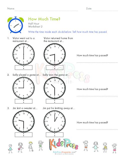 Telling Time Half Hour Worksheet 7 Kidspressmagazine Com