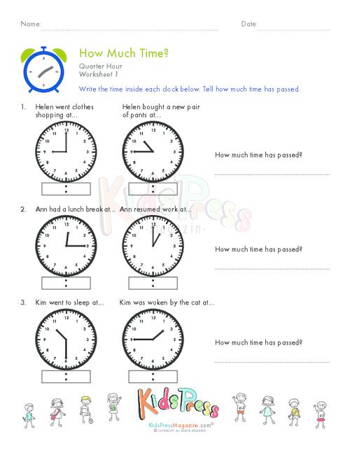 time worksheet NEW 659 TIME WORKSHEET QUARTER HOUR – Telling Time to the Quarter Hour Worksheets