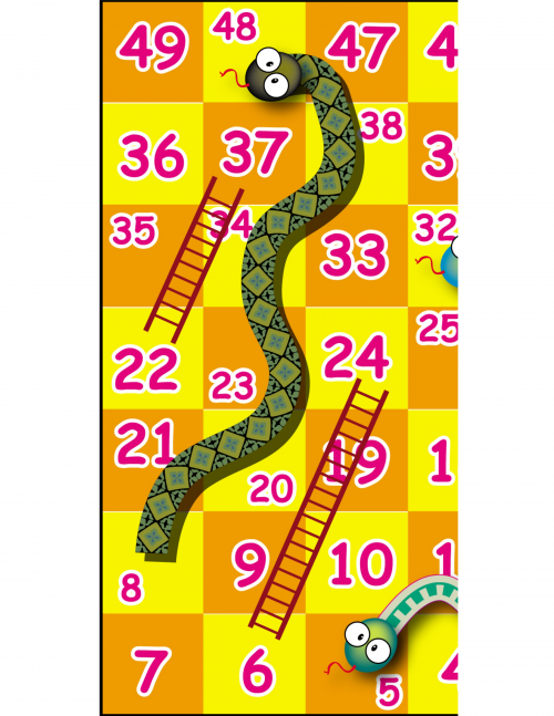 Printable Games: Snakes and Ladders