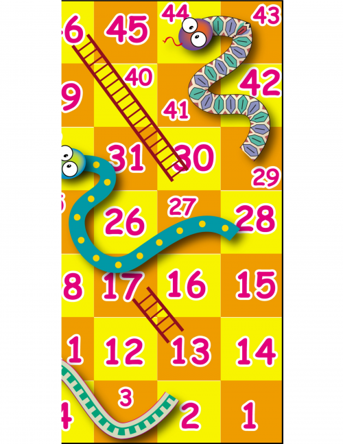 image about Snakes and Ladders Printable called Printable Online games: Snakes and Ladders -