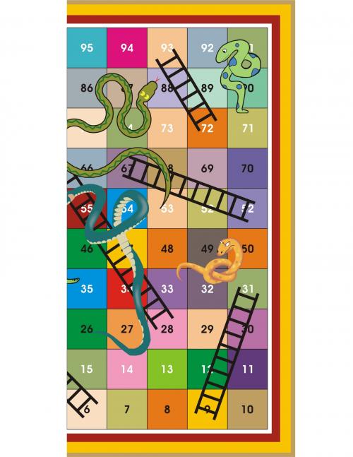 Printable Games: Snake Ladder - KidsPressMagazine.com