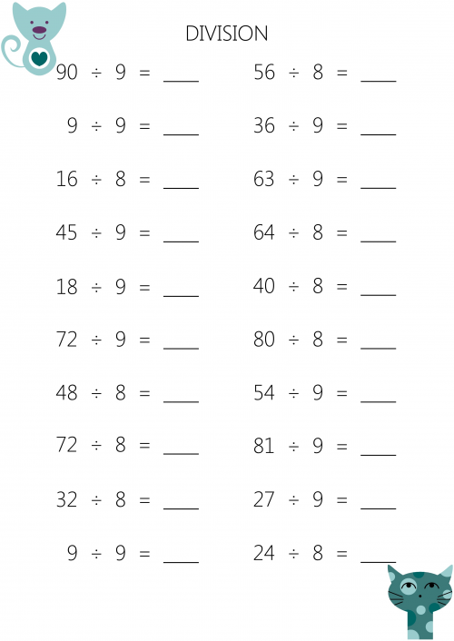 Division Worksheets Division Worksheets For 3rd Graders – Third Grade Division Worksheets