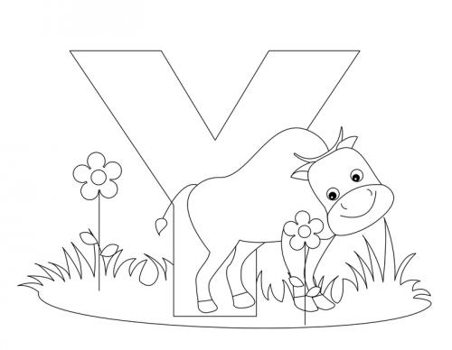 Alphabet Coloring Pages - Y - KidsPressMagazine.com