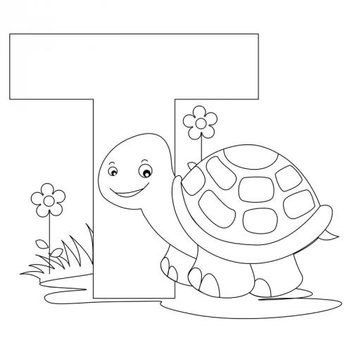 Alphabet Coloring Pages - T - KidsPressMagazine.com